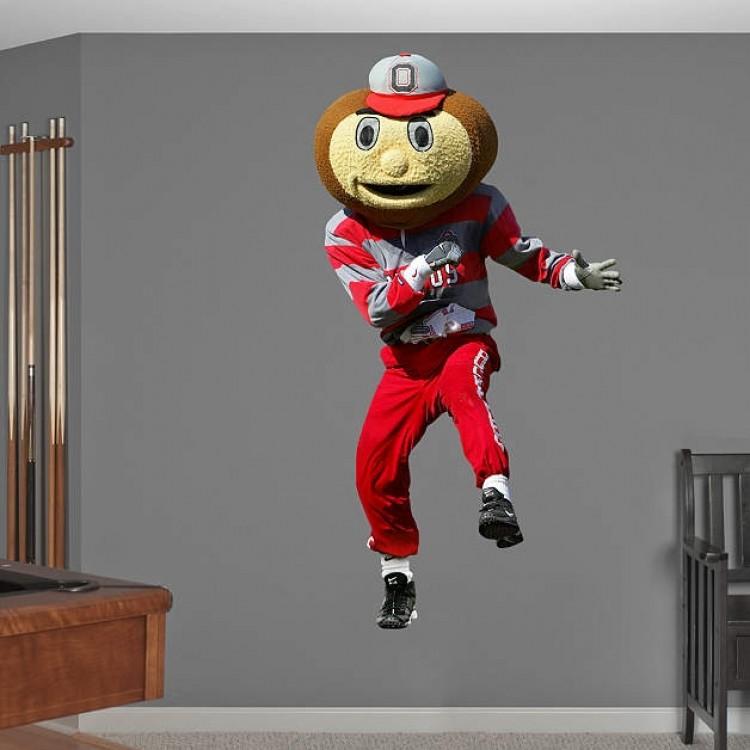 Ohio State Buckeyes Brutus Buckeye REAL.BIG. Fathead