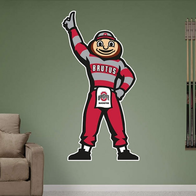 Ohio State Buckeyes Brutus Buckeye Illustrated Mascot REAL.BIG. Fathead