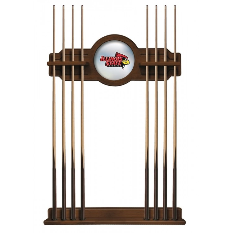 Illinois State Cue Rack in Chardonnay Finish