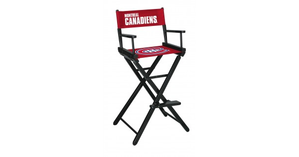 Montreal Canadiens Bar Height Directors Chair