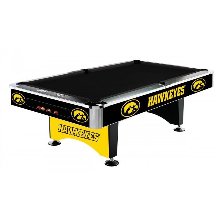 Iowa Hawkeyes 8' Pool Table