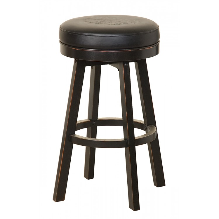 Jack Daniels Wood Bar Stool Tn Charcoal Finish