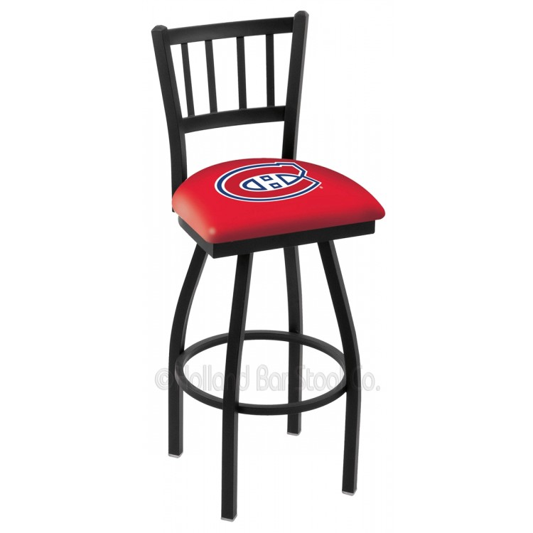 "Montreal Canadiens 30"" Black Wrinkle Jailhouse Bar Stool"