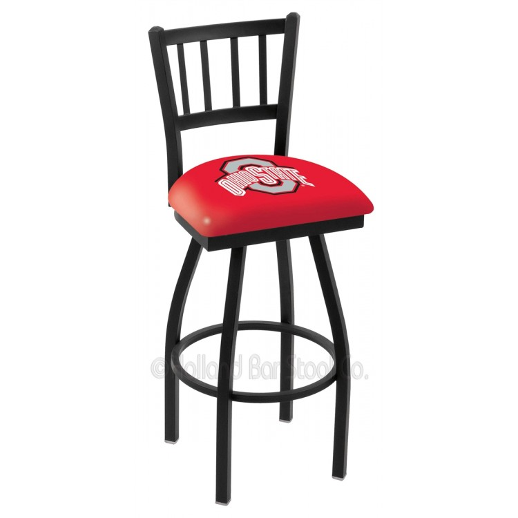 "Ohio State Buckeyes 30"" Black Wrinkle Jailhouse Bar Stool"