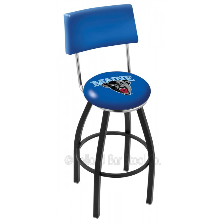"Maine Black Bears 25"" Black Wrinkle Swivel Bar Stool with a Back"