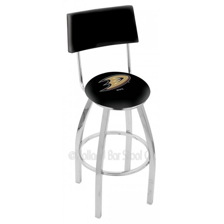 "Anaheim Ducks 30"" Chrome Swivel Bar Stool"