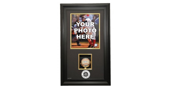 Seattle Mariners 8x10 Vertical Photo Amp Baseball Shadow Box