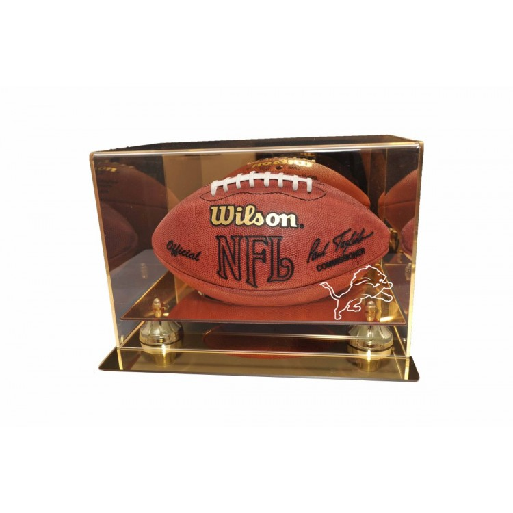 Detroit Lions Gold Mirror Finish Football Display