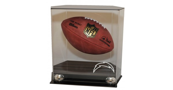 San Diego Chargers Floating Football Display Case