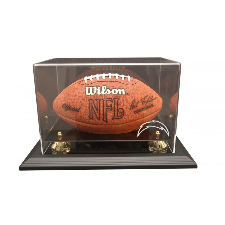 San Diego Chargers Zenith Football Display - Black
