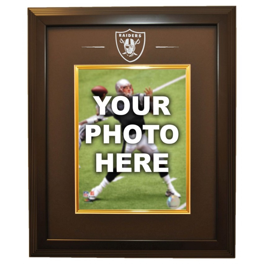 Oakland Raiders 8x10 Photo Ready Made Frame System, Black