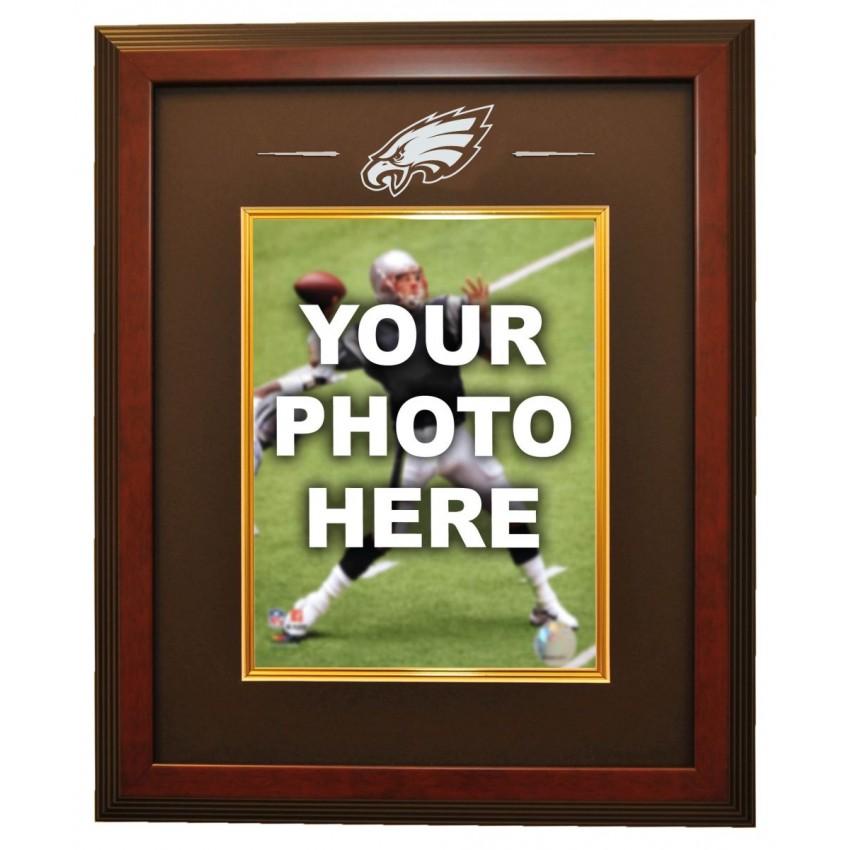 Philadelphia Eagles 8x10 Photo Ready Made Frame System, Mahogany