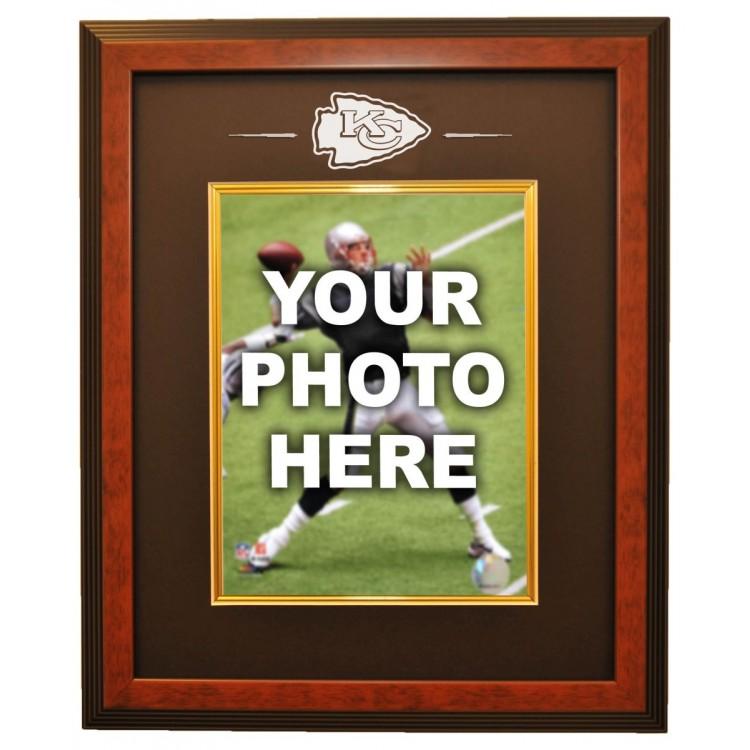 Kansas City Chiefs 8x10 Photo Ready Made Frame System, Brown