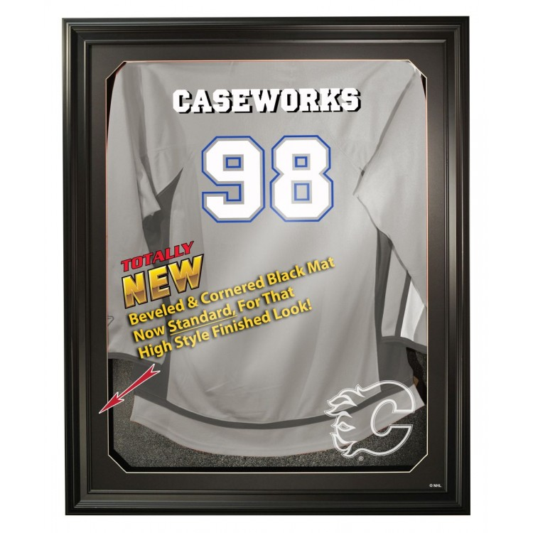 Calgary Flames Full Size Removable Face Jersey Display, Black