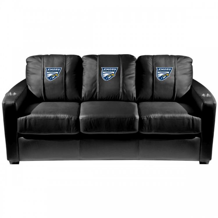 Emory Eagles Silver Sofa