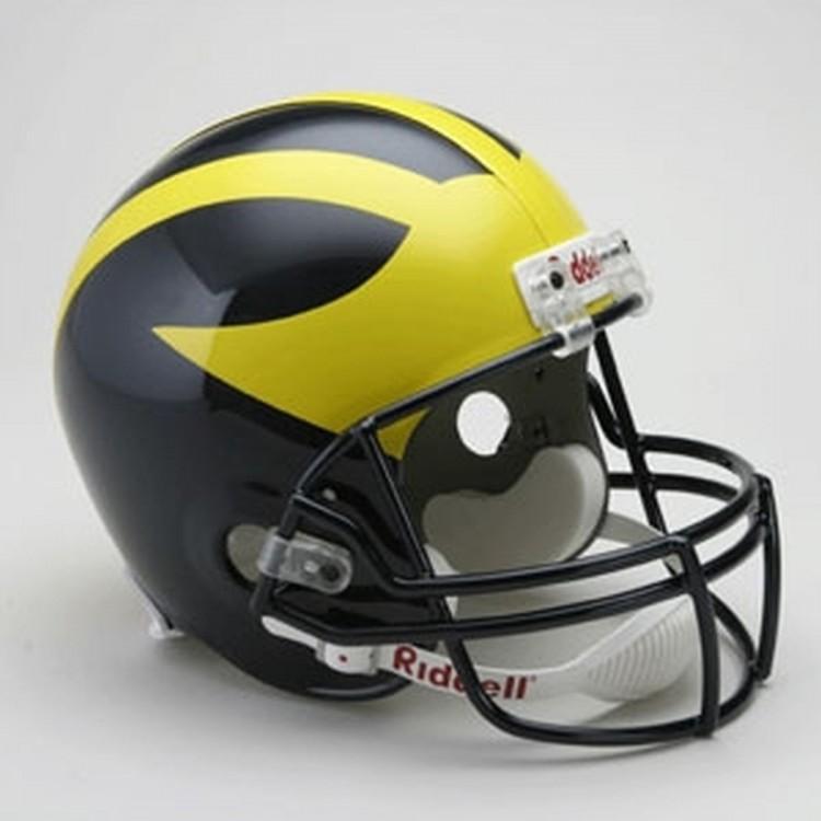 Michigan Wolverines Riddell Full Size Deluxe Replica Football Helmet