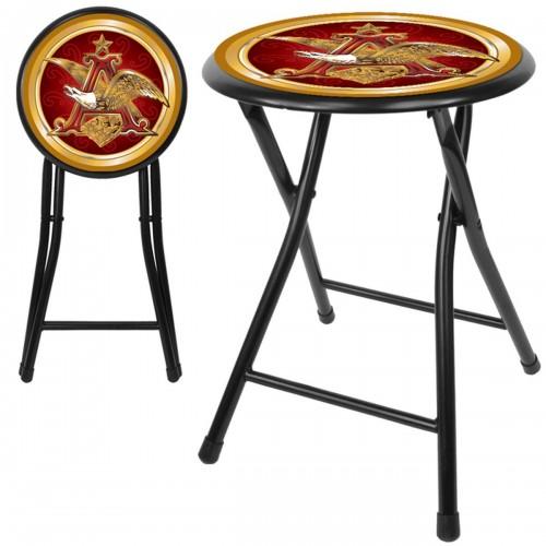 Budweiser man cave gear shop anheuser busch a eagle 18 inch folding stool black watchthetrailerfo
