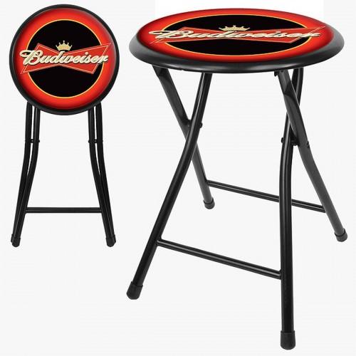 Budweiser man cave gear shop budweiser 18 inch cushioned folding stool black watchthetrailerfo
