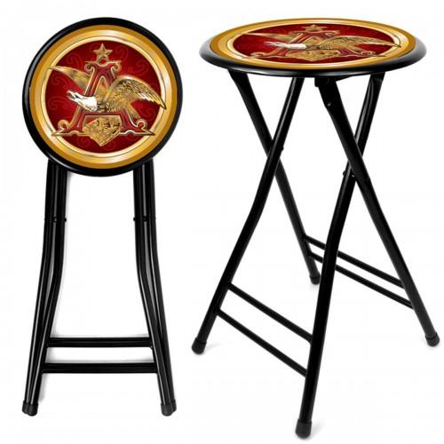 Budweiser man cave gear shop anheuser busch a eagle 24 inch cushioned stool black watchthetrailerfo