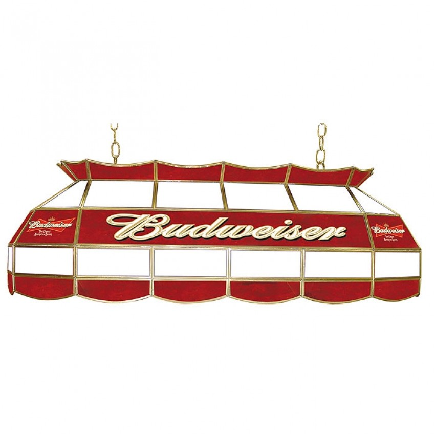 Budweiser Pool Table Light Plastic: Budweiser 40 Inch Stained Glass Pool Table Light