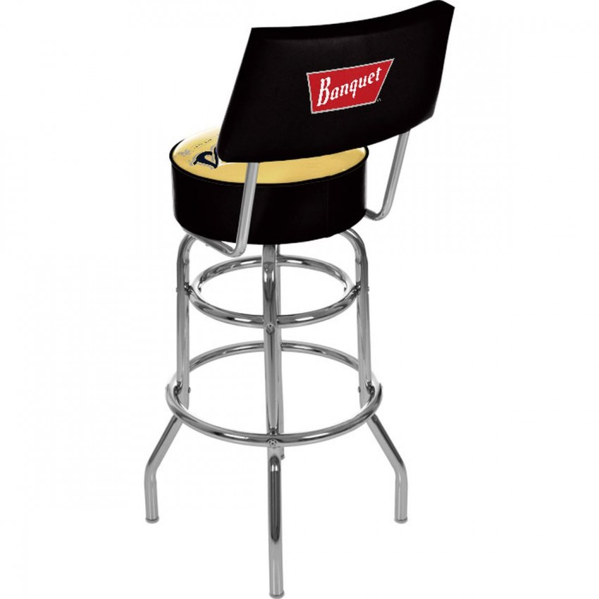 Coors Banquet Padded Bar Stool With Back