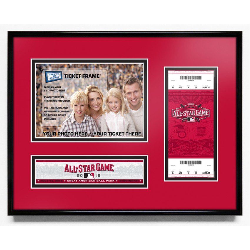 2015 mlb all star game 5x7 photo and ticket frame cincinnati reds