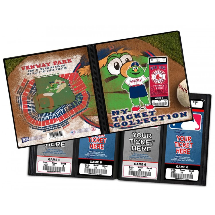 Boston Red Sox Mascot Ticket Album - Wally The Green Monster