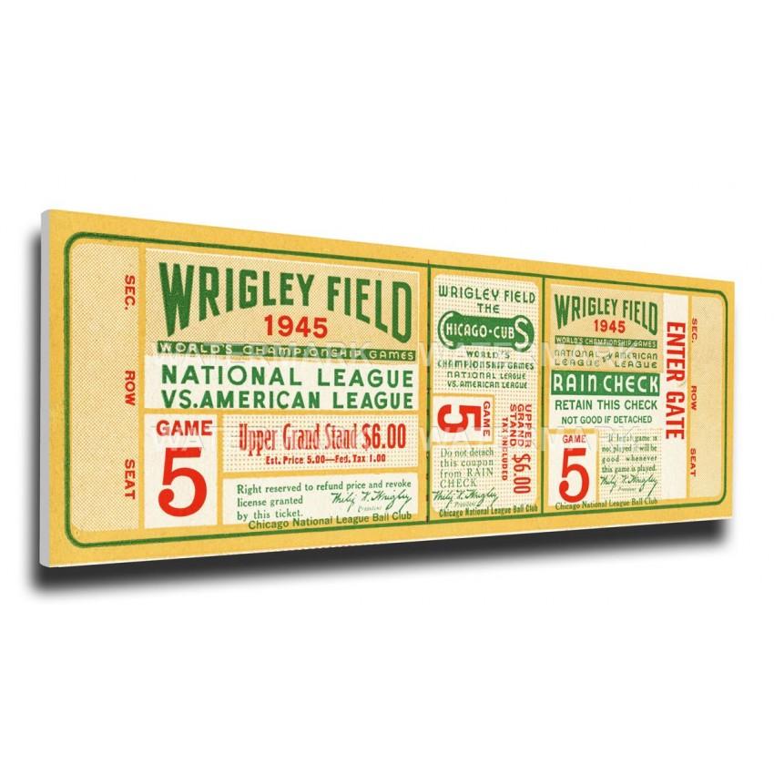 1945 World Series Canvas Mega Ticket - Chicago Cubs