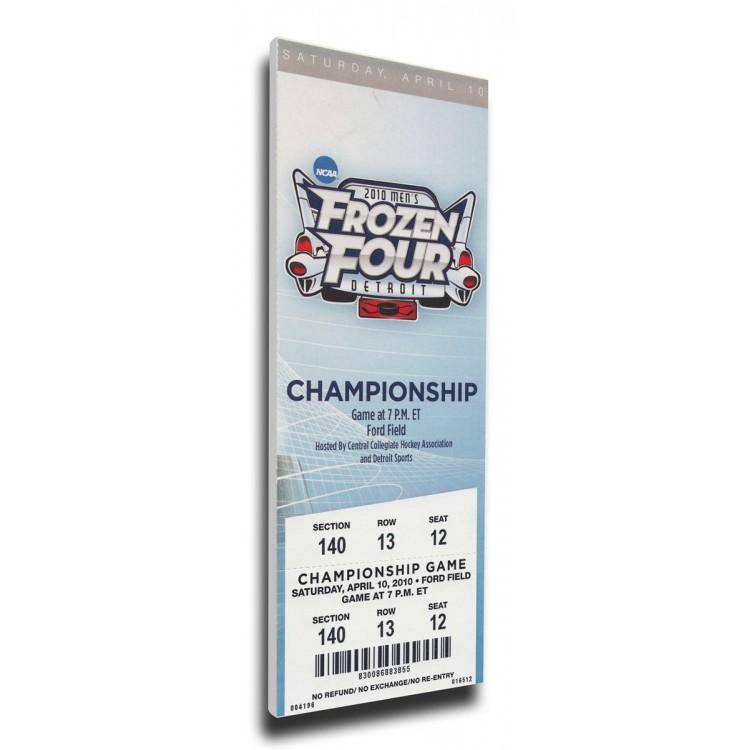 2010 Frozen Four Canvas Mega Ticket - Boston College Eagles