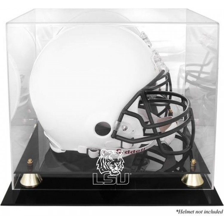LSU Tigers Golden Classic Logo Helmet Display Case with Mirrored Back