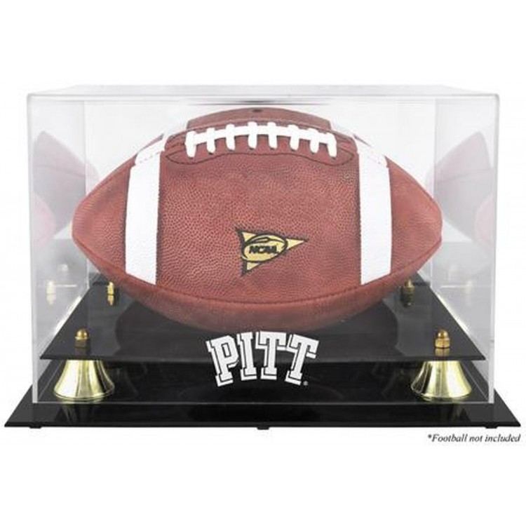 Pittsburgh Panthers Golden Classic Team Logo Football Display Case with Mirror Back