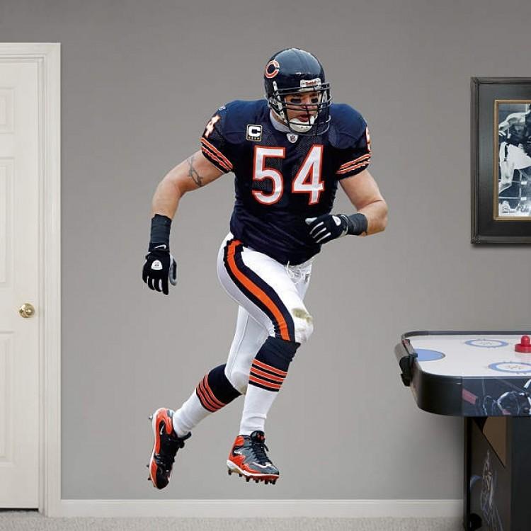 Chicago Bears - Brian Urlacher 2011 Edition REAL.BIG. Fathead