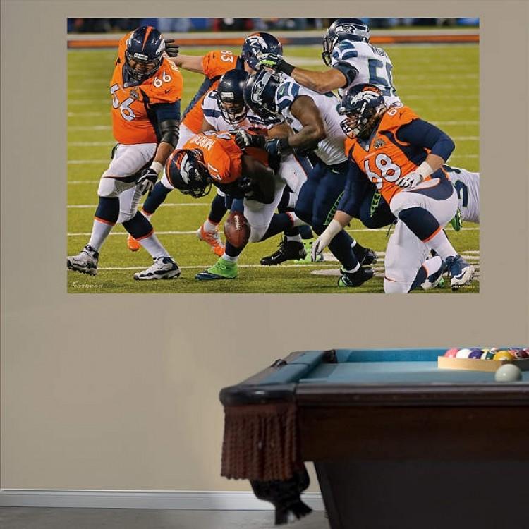 NFL Seattle Seahawks Super Bowl 48 Defensive Swarm Mural REAL.BIG. Fathead