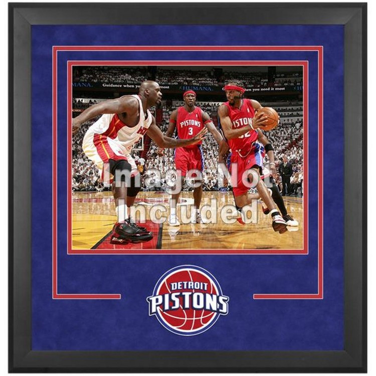 "Detriot Pistons Deluxe 16"" x 20"" Frame"