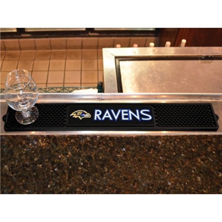 """Baltimore Ravens 3"""" x 24"""" Drink Mat"""