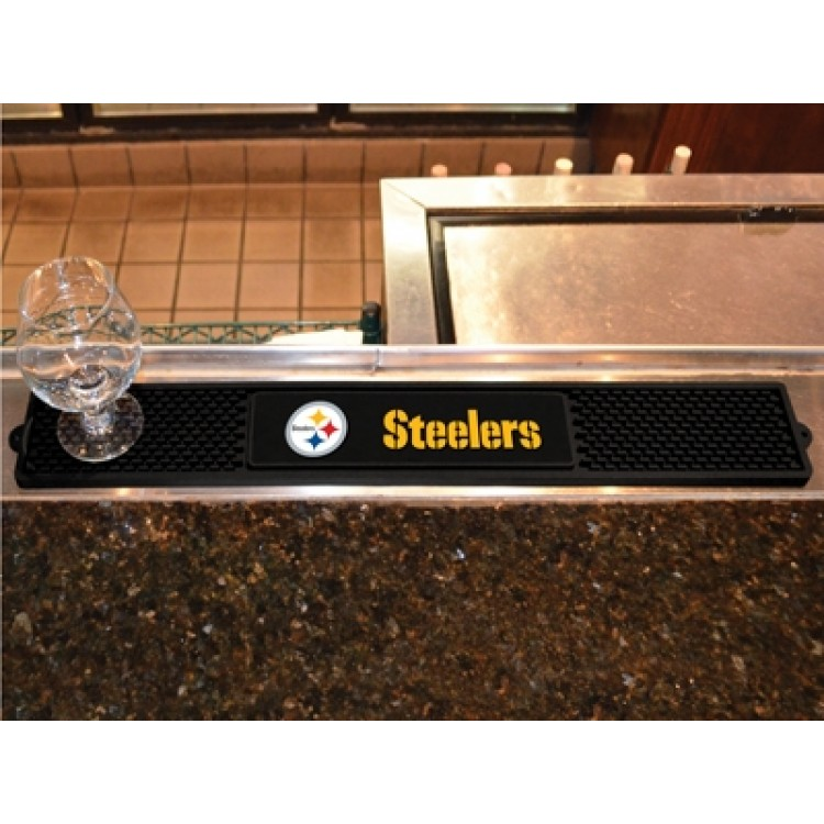 "Pittsburgh Steelers 3"" x 24"" Drink Mat"