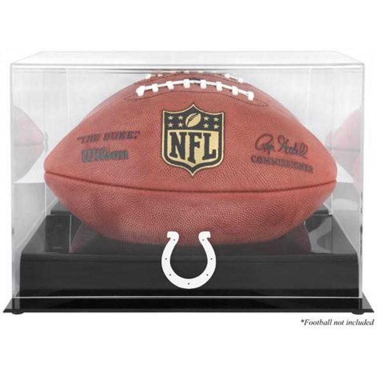 Indianapolis Colts Black Base Football Display Case