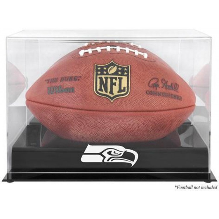 Seattle Seahawks Black Base Football Display Case