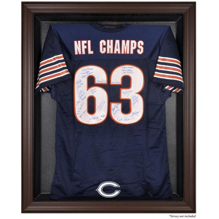 Chicago Bears Framed Logo Jersey Display Case - Brown