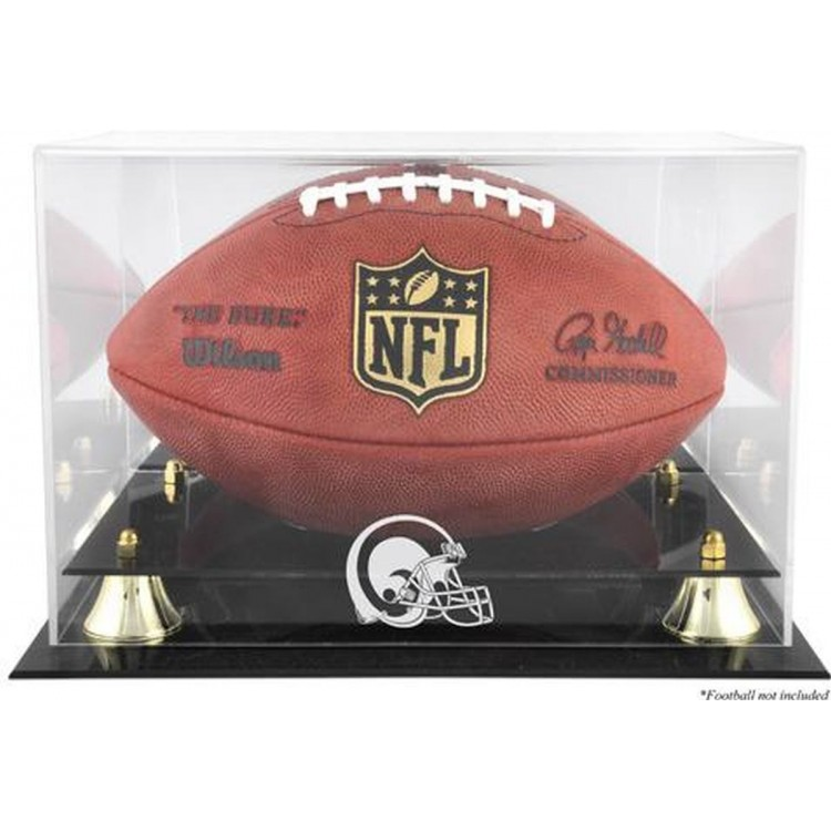 St. Louis Rams Throwback Golden Classic Football Logo Display Case with Mirror Back