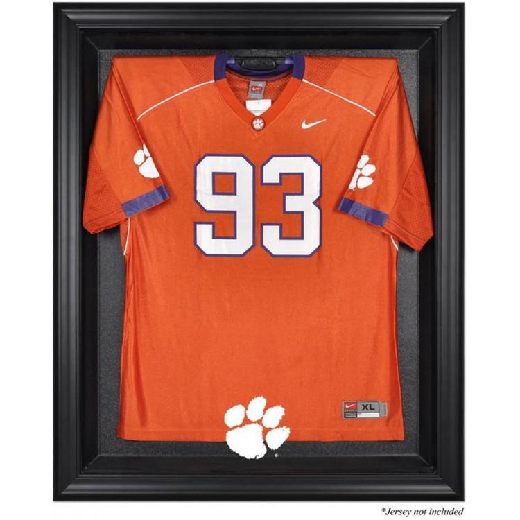 Clemson Tigers Black Framed Logo Jersey Display Case