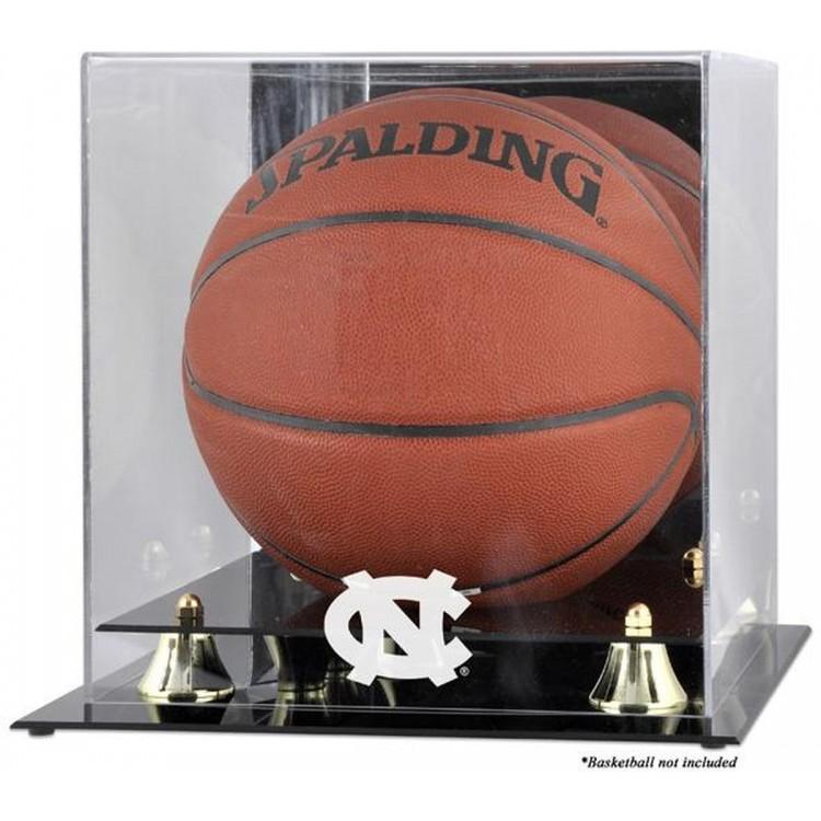 North Carolina Tar Heels Golden Classic Logo Basketball Display Case with Mirror Back