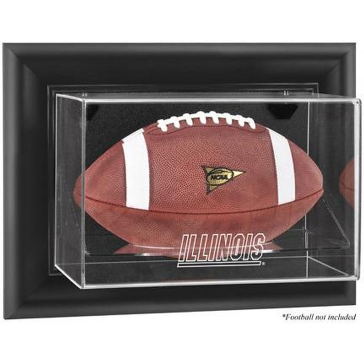Illinois Fighting Illini Black Framed Wall-Mountable Football Display Case