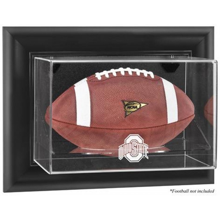 Ohio State Buckeyes Black Framed Wall-Mountable Football Display Case