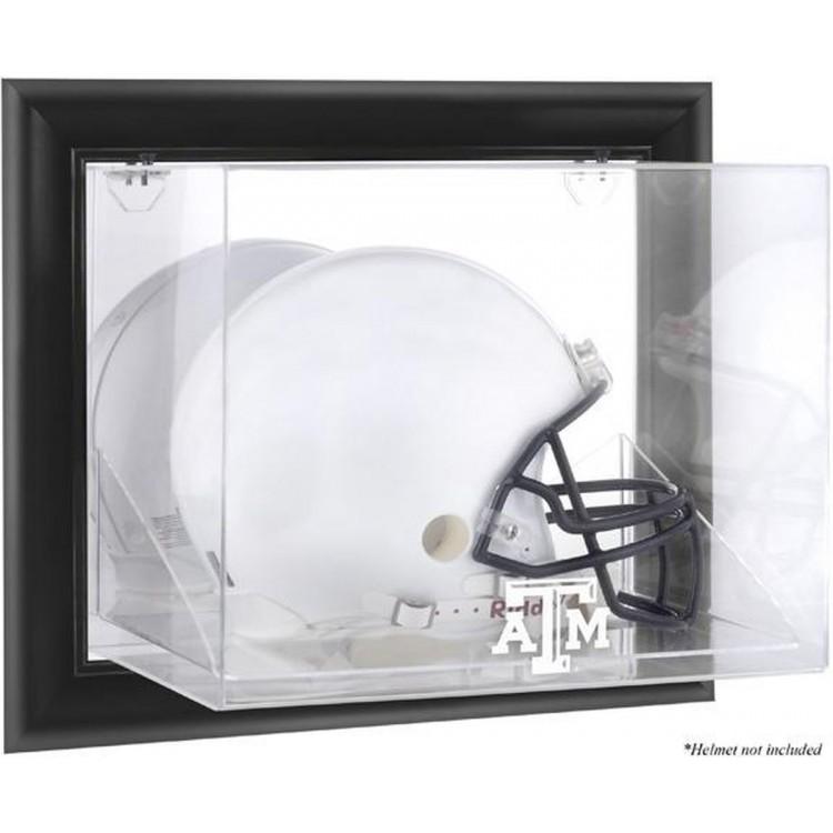 Texas A&M Aggies Black Framed Wall-Mountable Helmet Display Case
