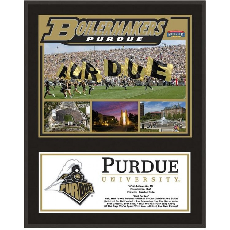 """Purdue Boilermakers Sublimated 12"""" x 15"""" Plaque"""