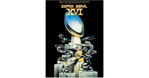 1982 49ers Vs Bengals 22 Quot X 30 Quot Canvas Super Bowl Xvi Program