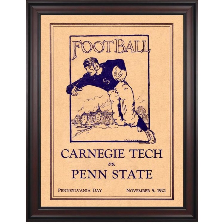 1921 Penn State Nittany Lions vs Carnegie Tech  36x48 Framed Canvas Historic Football Poster
