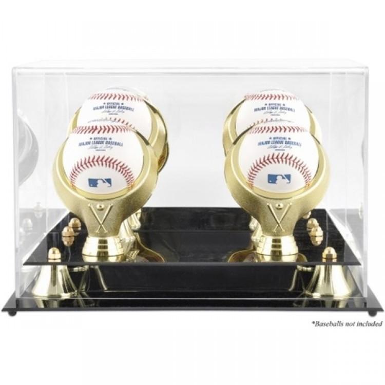 Golden Classic Four Baseball Logo Display Case