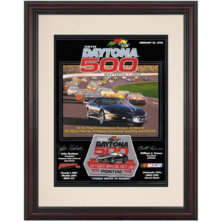 "Framed 8 1/2""  x 11"" 38th Annual 1996 Daytona 500 Program Print"